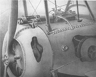 Nieuport 17 - The Alkan-Hamy synchronization gear installed in a Nieuport 17
