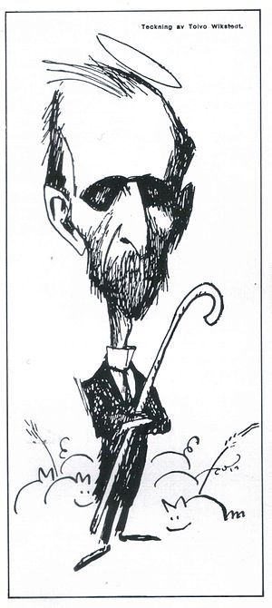 Santeri Alkio - Caricature of Santeri Alkio by Topi Viksted in 1918