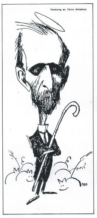 Santeri Alkio - Caricature of Santeri Alkio by Topi Viksted in 1918
