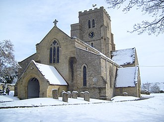 Church of All Saints, Cuddesdon - All Saints in the snow