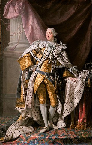 King George III in coronation robes