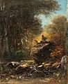 Alois Bach Ein Faun auf einem Fels sitzend.jpg