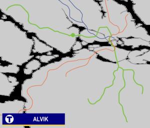 Alvik metro station - Image: Alvik Tunnelbana