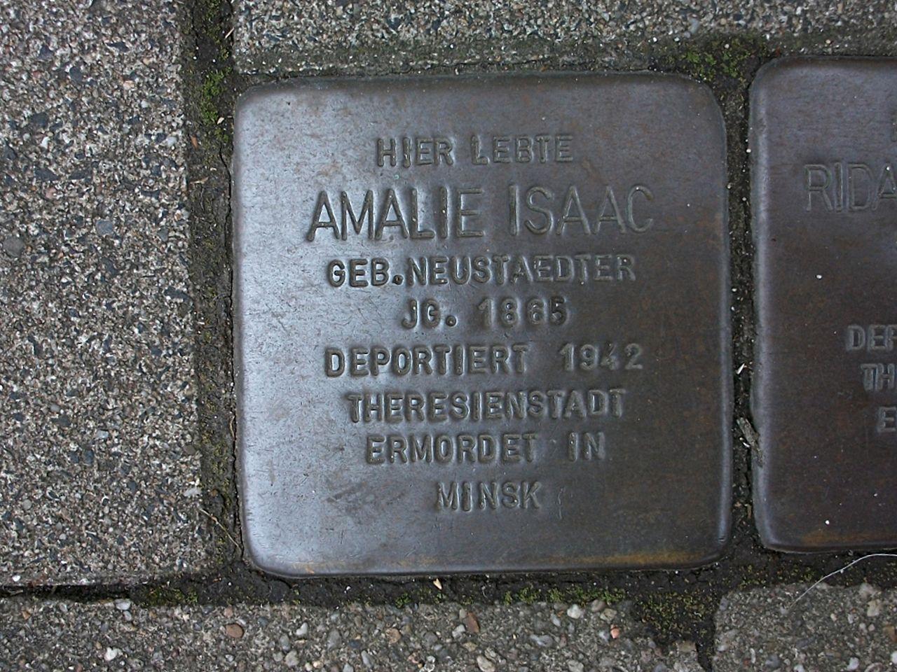 Stolperstein für Amalie Isaac