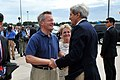 Ambassador Baucus welcomes Secretary Kerry July 2014.jpg