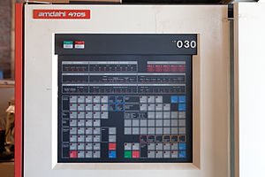 Amdahl Corporation - Front panel of an Amdahl 4705 communications controller