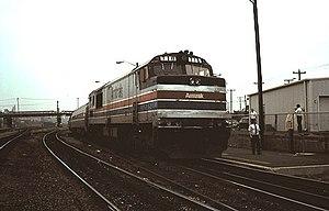 Roanoke station (Virginia) - The Hilltopper at Roanoke in September 1977