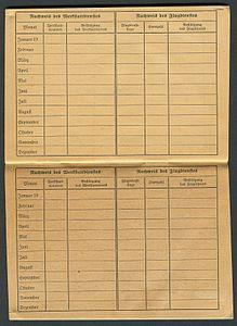 Amtsdokument Paul Fischer 1942-10-14 Hauptmann Nationalsozialistisches Fliegerkorps NSFA Flugbuch Nr. NSFK-Formblatt 602 Ap. A III. 5.38-7.40 Seite 38 und 39 Werkstattdienst.jpg