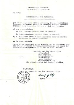 Amtsgericht Emmerich - gemeinschaftlicher Erbschein, beglaubigte Abschrift 1950.jpg