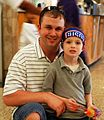 An Ohio National Guard soldier and his son pose for a picture, 2011.jpg