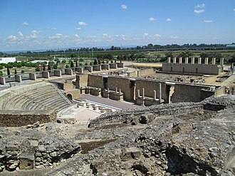 Italica - Image: Ancient Roman theatre in Itálica 02