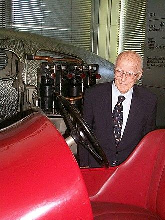 Carlo Felice Bianchi Anderloni - Anderloni at the Alfa Museum, 22 May 2003