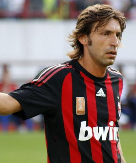 Pirlo playing for Milan in 2008. Andrea Pirlo 2008.jpg