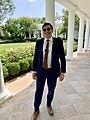 Andrew Strelka in the West Wing Colonnade in 2021.jpg