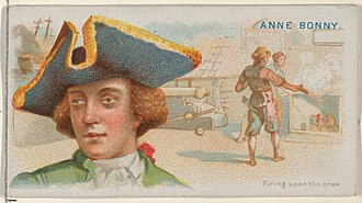 Anne Bonny - Image: Anne Bonny, Firing Upon the Crew, from the Pirates of the Spanish Main series (N19) for Allen & Ginter Cigarettes MET DP835030