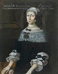 Portrait of Anna Zbąska née Stanisławska.