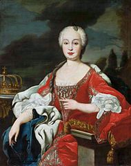 Portrait of Maria Bárbara de Bragança (1711-1758), infanta of Portugal