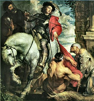 Ferdinand de Boisschot - Anthony van Dyck, St Martin divides his cloak with a beggar, commissioned by Ferdinand de Boisschot