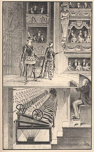Prompter (theatre) - An 18th-century prompter at work.