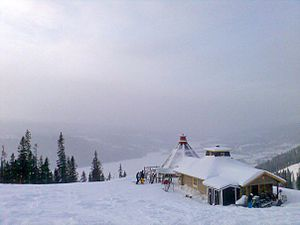 Åre ski resort - View of the Åre ski area