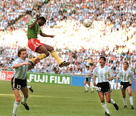 a65fc626f7a Cameroon defeated Argentina in the first game of the 1990 World Cup