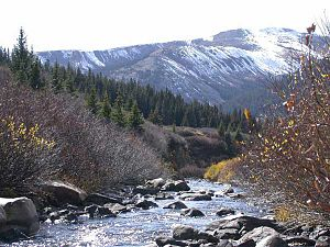 Arkansas River - The headwaters of the Arkansas near Leadville, Colorado