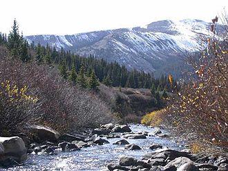 Granite, Colorado - The headwaters of the Arkansas 17 miles north of Granite
