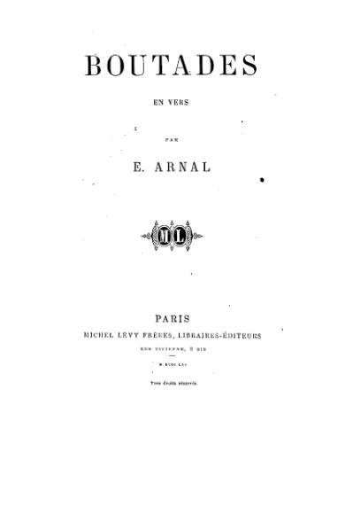 File:Arnal - Boutades en vers, 1861.djvu