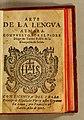 Arte de la lengua aymara Diego de Torres Rubio 1616 title page.jpg