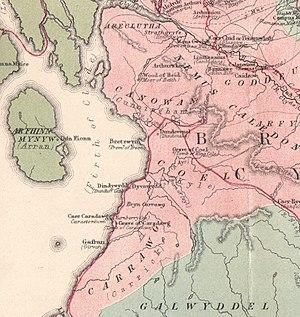 Dunduff Castle - Arthurian locations in Ayrshire, including Dindywydd or Dunduff