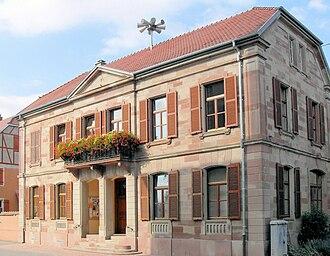 Artzenheim - The town hall in Artzenheim