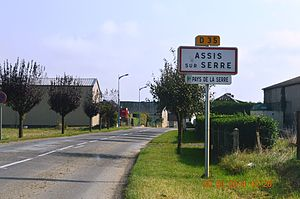 Assis-sur-Serre - The road into Assis-sur-Serre