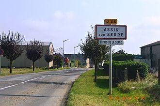 Assis-sur-Serre - The road into Assis-sur-Serre