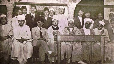 4f8b8c39c المجلس الإداري لجمعية العلماء المسلمين الجزائريين - نهاية الأربعينيات.