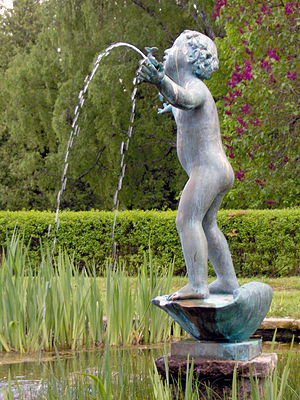 Astri Taube - Sculpture and fountain at Ulleråkers Hospital in Uppsala, 1946.