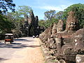 Asuras line the street in front of Angkor Thom Hindu temple complex.jpg