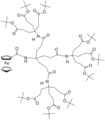 Asymmetric Dendrimer containing a ferrocene.png