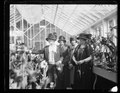 At the opening of the amaryllis show, Mrs. Coolidge, wife and daughters of Secy of Agric., left Miss Ruth, Miss Mary, and Mrs. Wallace LCCN2016893262.tif