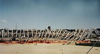 Atlanta–Fulton County Stadium - Atlanta–Fulton County Stadium being demolished