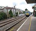 Attleborough railway station - train arriving at platform 1 - geograph.org.uk - 1408085.jpg