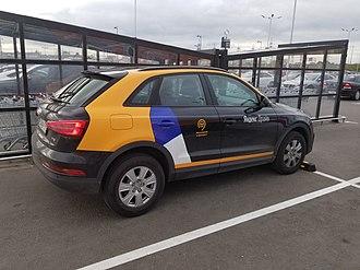 Yandex Drive - Image: Audi Q3 сервиса Яндекс.Драйв на парковке в Котельниках