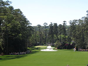 "Perry Maxwell - The 10th hole, ""Camellia"", at Augusta National Golf Club"