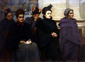 Victor Leydet (painter) - Image: Avant la messe Victor Leydet
