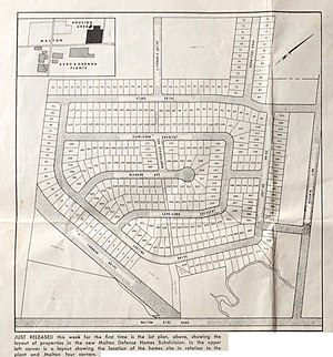 Malton, Mississauga - Plan of the Ridgewood subdivision from Avro News 1957-05-31