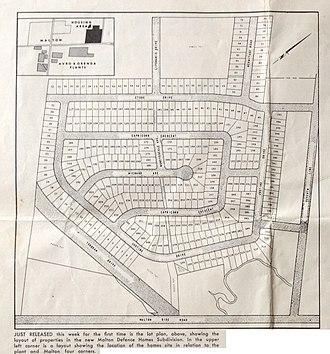 Malton, Mississauga - Plan of the Ridgewood subdivision from Avro News 1957-05-31