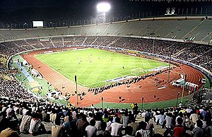 Sport in Iran - Azadi Football Stadium is the biggest venue for Iranian football. It is also the world's fourth largest soccer stadium.