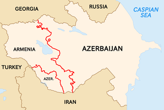 Armenia–Azerbaijan border International border between the Republic of Armenia and the Republic of Azerbaijan