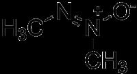 Strukturformel von Azoxymethan