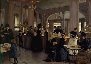 France in the long nineteenth century - Wealthy women in an urban café or patisserie, 1889.