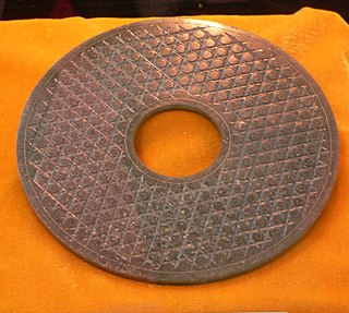 <i>Bi</i> (jade) Type of circular ancient Chinese jade artifact